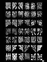 Metal Za prst nožni prst nail art Manikura Pedikura Sažetak / Klasik / Punk Dnevno / utiskivanje Plate