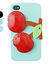 Cherry Ornament Mirror Back Case for iPhone 4/4S(Assorted Color)