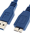 YongWei 0.3M 1FT A USB 3.0 Male to Micro USB 3.0 Male Cable Blue 0.3m
