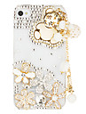 Cas en bois Transparent pendentif ours pour l'iPhone 4/4S