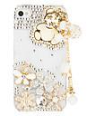 Wooden Bear Pendant Transparent Case for iPhone 4/4S