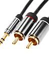 jsj® 1,8 5.904ft 3,5 мм Мужской 2xRCA мужской аудио кабель позолоченные черный монстр бьет Sennheiser