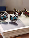 Women's Stud Earrings Luxury Imitation Diamond Alloy Owl Animal Jewelry Daily