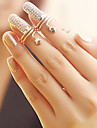 Women's Nail Finger Rings Fashion Rhinestone Alloy Jewelry Party Daily