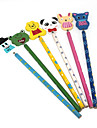 lápis de madeira crianças animais da (cores aleatórias)