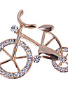 Women's  Bike Shaped diamond charm Brooch N303
