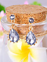 여성 드랍 귀걸이 우아한 패션 고급 보석 유럽의 합성 보석 모조 다이아몬드 합금 드롭 보석류 제품 일상
