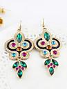 Women\'s Drop Earrings Folk Style Synthetic Gemstones Rhinestone Imitation Diamond Alloy Jewelry For Party Daily