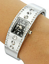 Women's Rectangle Dial Diamante Alloy Band Bracelet Watch (Assorted Colors) Cool Watches Unique Watches