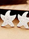 Stud Earrings Rhinestone Alloy Birthstones Star Jewelry Daily
