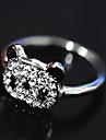 Anéis Pedras dos signos Pesta / Diário / Casual Jóias Aço Inoxidável / Strass Feminino Anéis Statement Prateado