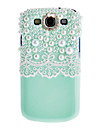 White Lace and Bling Pearls Protective Cover by Handmade Case for Samsung Galaxy s3 i9300