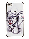 Bloodcurdling Digging Heart Pattern PC Hard Case with Black Frame for iPhone 4/4S