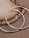 Boucle,Boucles d'oreille gitaneBijoux Argent sterling / Plaqué argent Forme Ovale Argent Soirée / Quotidien / Décontracté