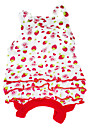 Dog Dress Red Dog Clothes Summer Fruit