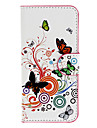 HTC 601e (한 미니) / M4 (흰색)을위한 카드 구멍을 가진 아름다운 나비 패턴 전신 케이스