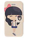 Duftende Lugt Modern Girl mønster Full Body Case med Matte Back Cover og Stand til iPhone 4/4S