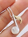 (1 Pc)Vintage  Silver Alloy Pendant Necklace(Silver)