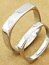 anel de casamento do casal de prata (cor aleatória, um par)