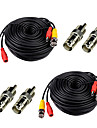 Kable 2Pcs 100ft Video Power Cables BNC RCA with Bonus Connectors na Bezpieczeństwo systemy 3000 cm cm 1.8 kg kg