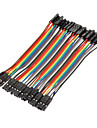 40Pin 1P-1P Female to Female Dupont Line Colorful Dupont Wire(10CM)