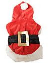 Классическая Рождество Санта-костюм с Поддельные Пояс для собак домашних животных (разные цвета, размеры)