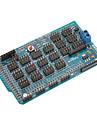 (Arduino를위한) 메가 1.2 메가 IO 센서 확장 쉴드 / 보드 (공식 (Arduino를위한) 보드와 함께 작동)