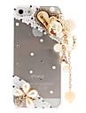 Capa Rígida Transparente com Padrão delicado e Pingente de Pérolas e Diamantes
