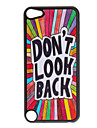 """Shimmering """"Don't Look Back"""" Pattern Hard Case for iPod touch 5"""