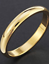 clássico de titânio de aço círculo ornamento dourado jóias anel de banda para a senhora menina