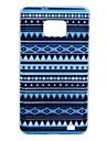 motif bleu de figure géométrique TPU étui souple pour Samsung i9100 de la