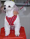 Cães Arreios / Trelas Retratável Estrelas Vermelho / Preto / Azul / Rosa Tecido