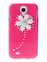 For Samsung Galaxy Case Rhinestone / Pattern Case Back Cover Case Flower PC Samsung S4