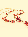 Bijoux rétro douce petite cerise plein collier de tempérament esthétique européenne et américaine N116