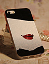Joyland TPU + Glitter  Red Red Lip Back Case for iPhone 4/4S