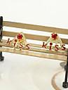 Corée bijoux en diamant boucles d'oreilles boucles d'oreilles boucles d'oreilles beau baiser de lettre (couleur aléatoire)