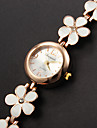 Women's Bracelet Watch Fashion Watch Quartz Casual Watch Alloy Band Flower Elegant White