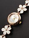 Mulheres Bracele Relógio Relógio de Moda Quartzo Relógio Casual Lega Banda Flor Elegant Branco