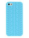 아이폰 5/5S를위한 타이어 트레드 패턴 실리콘 소프트 케이스 (분류 된 색깔)