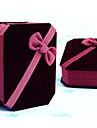 6.5x8cm красный бархат ювелирных изделий браслета ожерелья коробка подарка