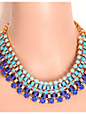 Women\'s Statement Necklaces Alloy Acrylic Fashion Statement Jewelry Black Green Blue Jewelry Party Daily 1pc