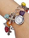 Women's White Dial Skull Pattern Quartz Analog Bracelet Watch Cool Watches Unique Watches