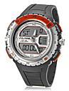 Hommes Montre de Sport Montre numérique Quartz Numérique LCD Règle de calcul Calendrier Chronographe Etanche Double Fuseaux Horaires Bande