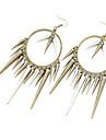 Rivets tassel circle earrings performances must E277