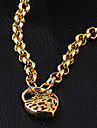 Gold plated bronze zircon Pendant Necklace XL0001