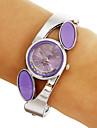 Diamante ronde des femmes de quartz de cadran de montre de bracelet analogique