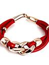 Fashion PU Leather Wrap Bracelet(Random Color)