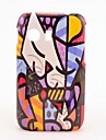 Cat Face Oil Painting Padrão Hard Case para Samsung Galaxy Y S5360
