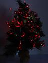 4M 3W 40-LED 210LM Красный свет СИД Свет для рождественские украшения