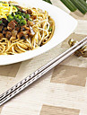Two Pairs Stainless Steel Chopsticks With Thread
